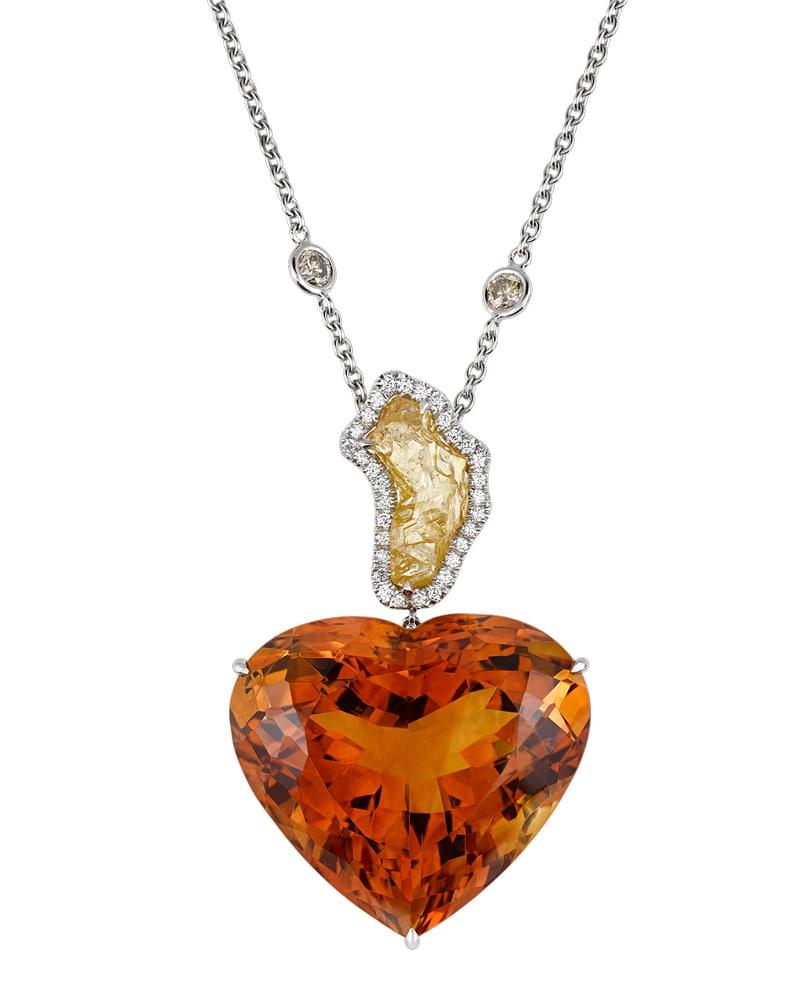Citrine and Diamond Heart Necklace VIE Magazine Destination Travel Cest la VIE Special Valentine's Day Edition 2018