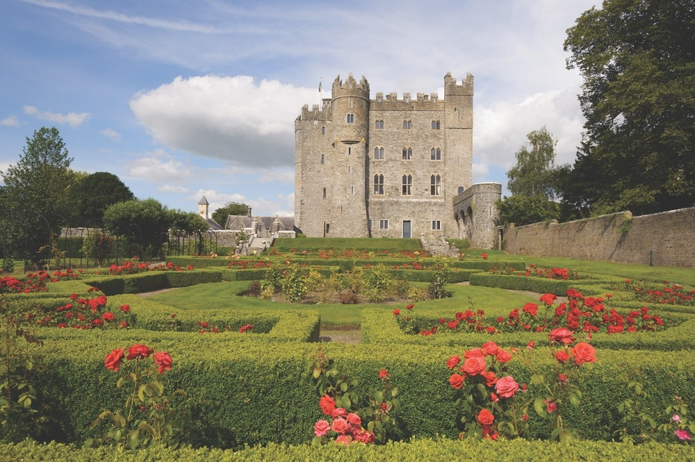 The beautiful rose garden and hedge maze at Kilkea Castle Photo by Bruno Sternberger