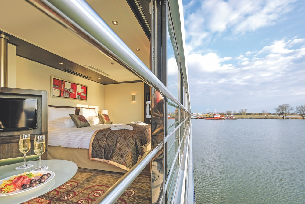 Royal Suite on the Avalon Artistry II Avalon Waterways VIE Magazine Destination Travel