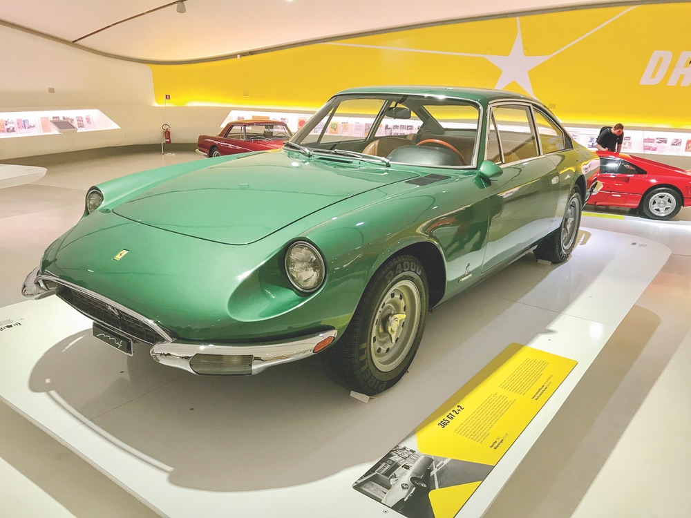 One of many sleek specimens at the Museo Enzo Ferrari in nearby Modena. Photo by Carolyn O'Neil