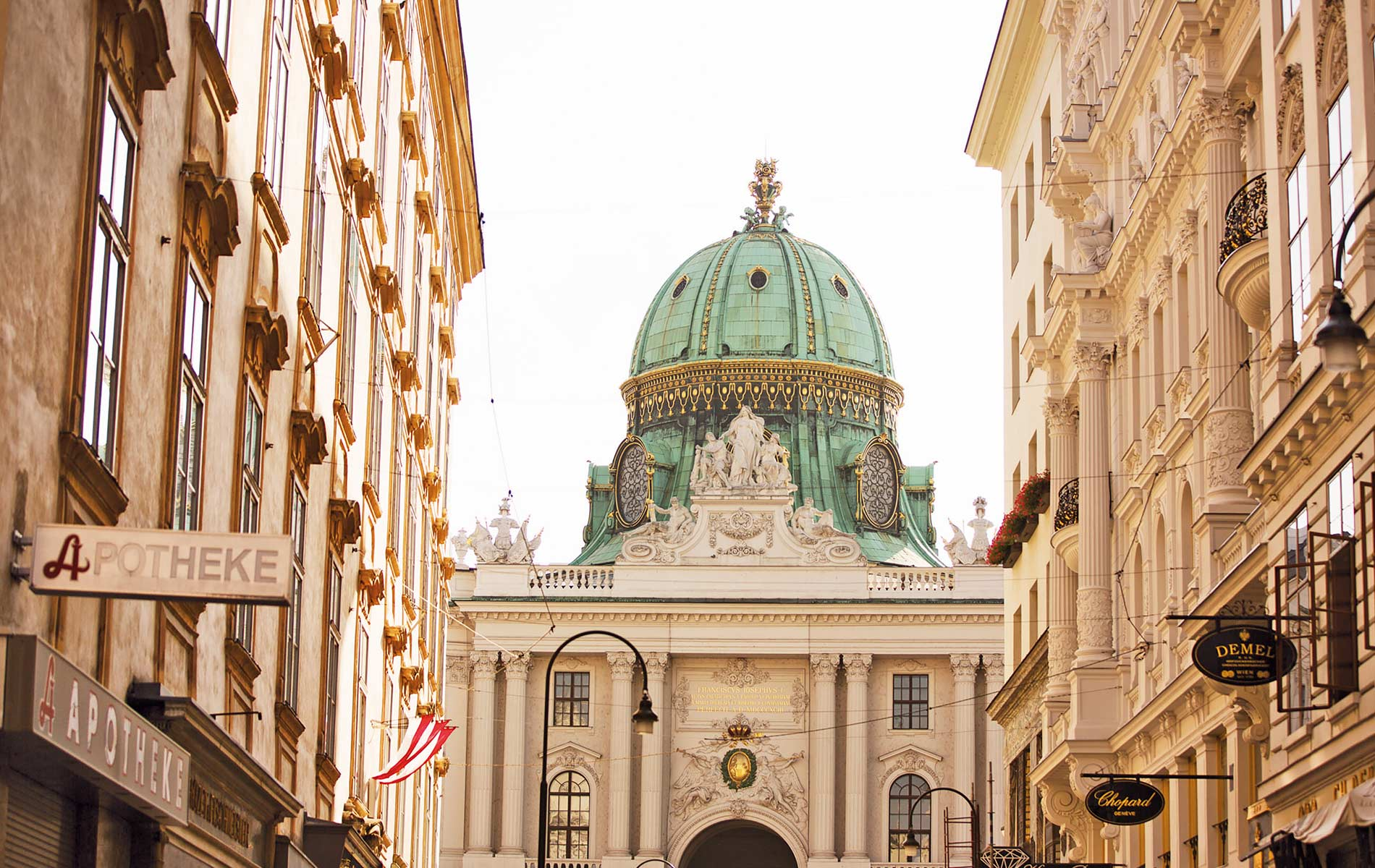 Michaelerkuppel of the Hofburg Imperial Palace in Vienna Austria VIE Magazine Destination Travel 2018
