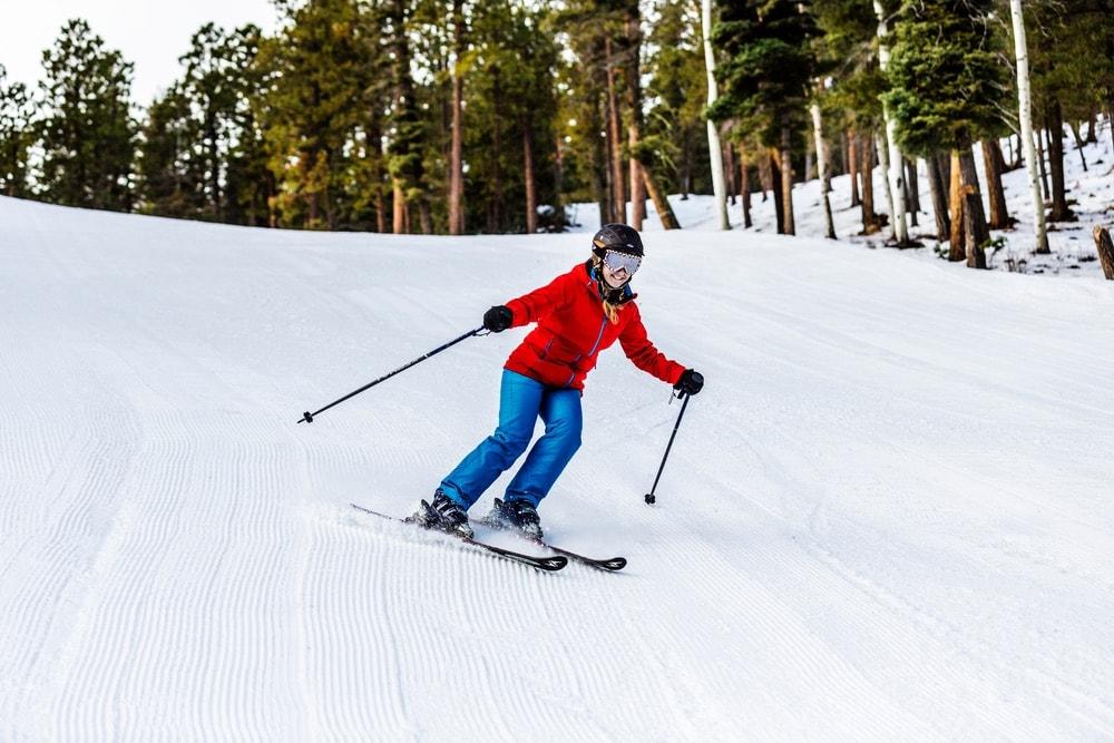 Skiers enjoying the Sipapu slopes!