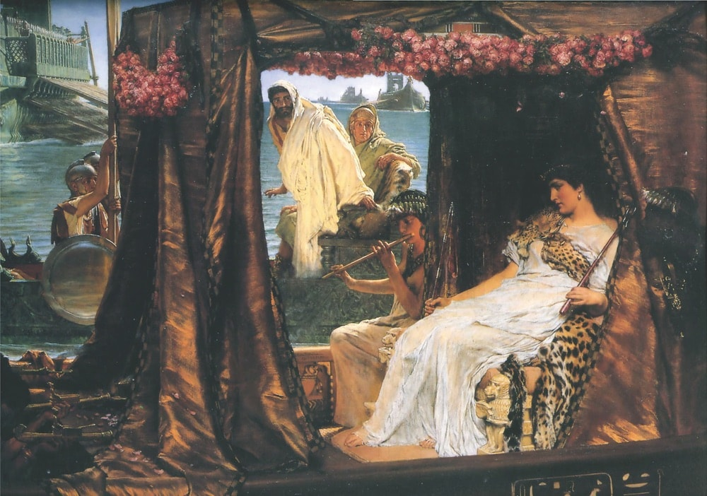 The Meeting of Antony and Cleopatra: 41 BC by Sir Lawrence Alma-Tadema, 1883