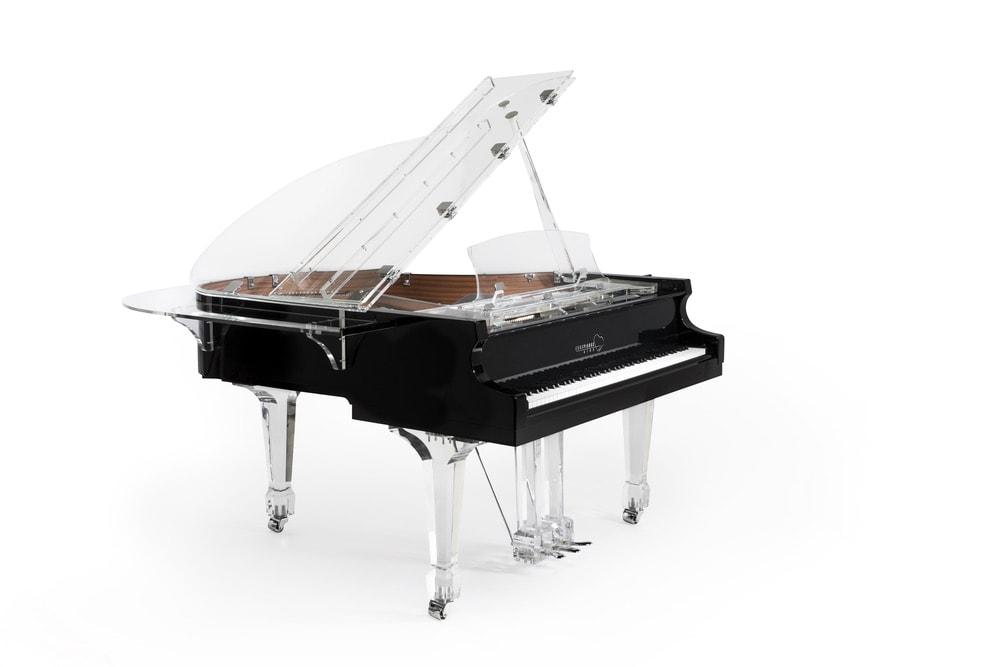 Euro Pianos Black Aire Baby Grand