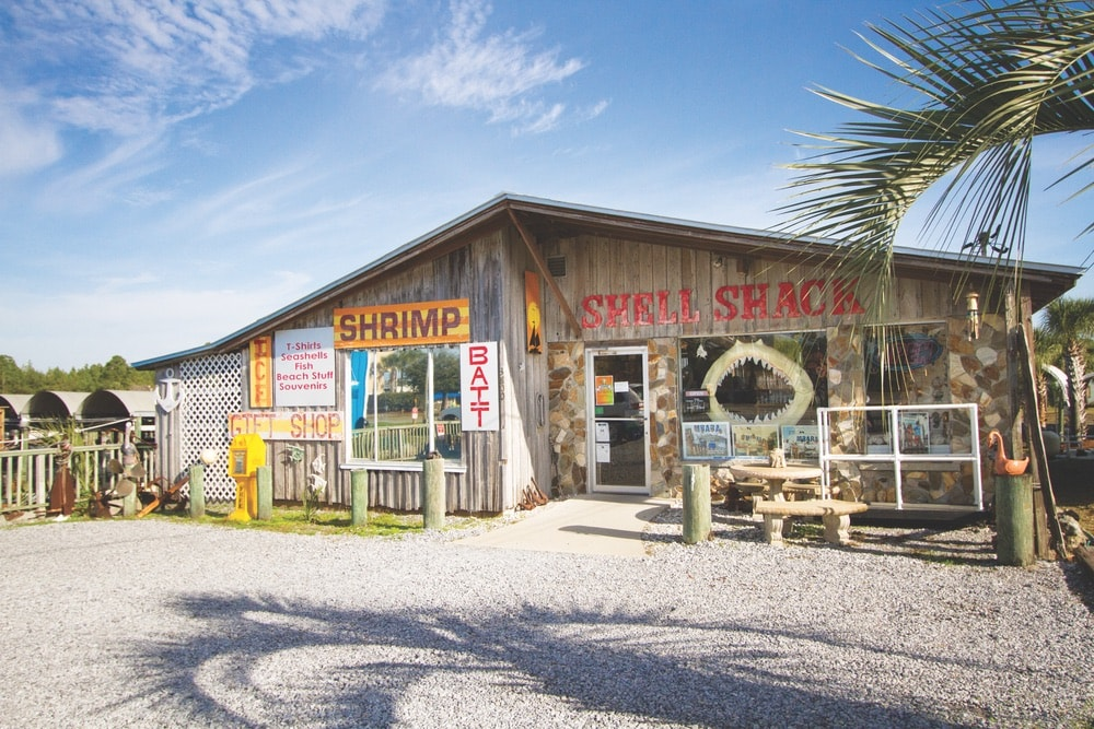 Cola 2 Cola; Travel Guide; Northwest Florida's Gulf Coast; Emerald Coast; Mexico Beach; shell shack