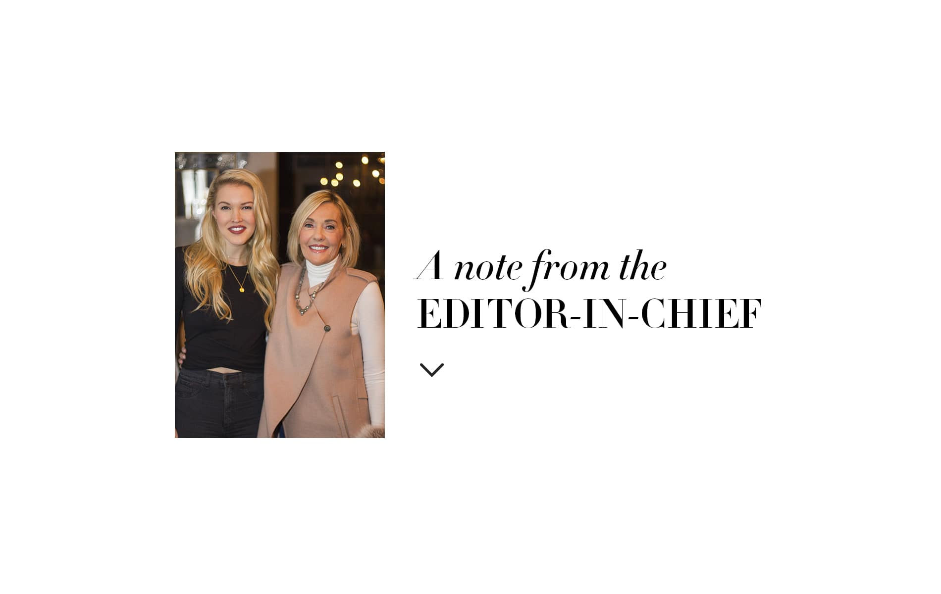 Editor in Chief Note by Lisa Burwell, March 2018, The Entertainers issue.