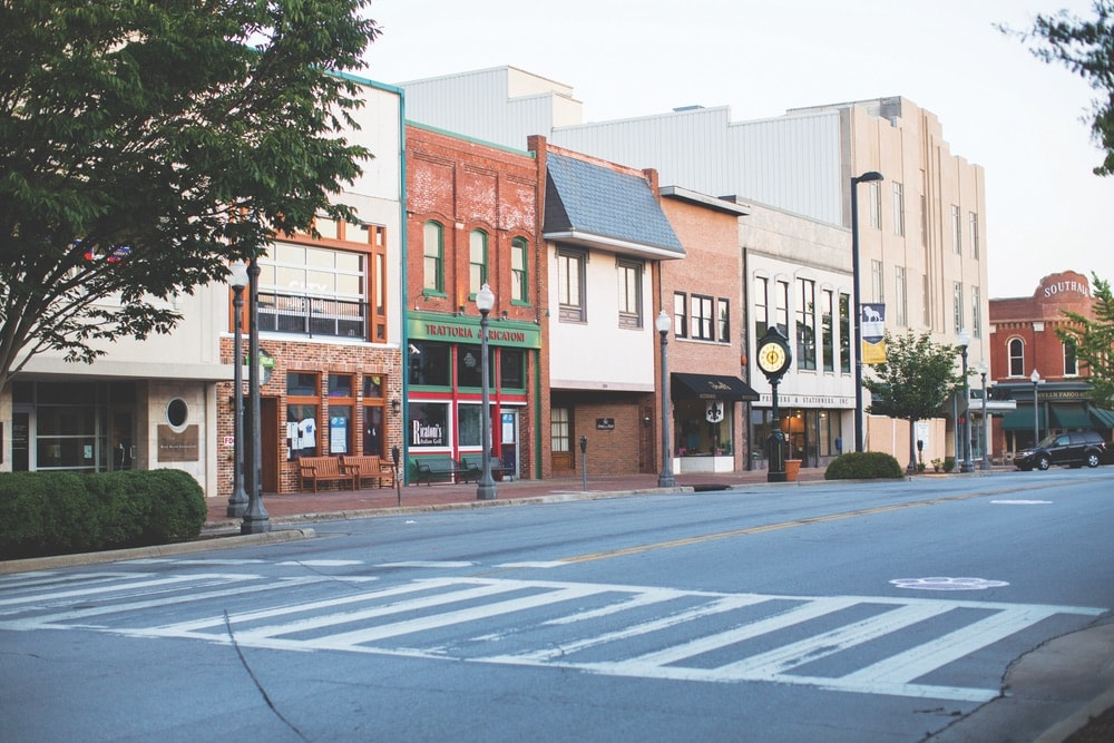 Florence, Alabama; downtown Florence; Court Street