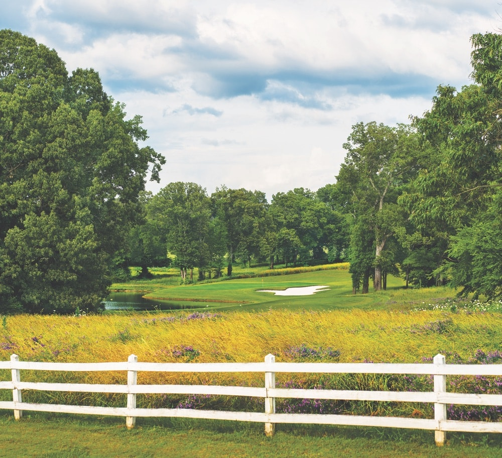 Florence, Alabama; Robert Trent Jones Golf Trail; Hole Ten; Schoolmaster championship course; Shoals Golf Club