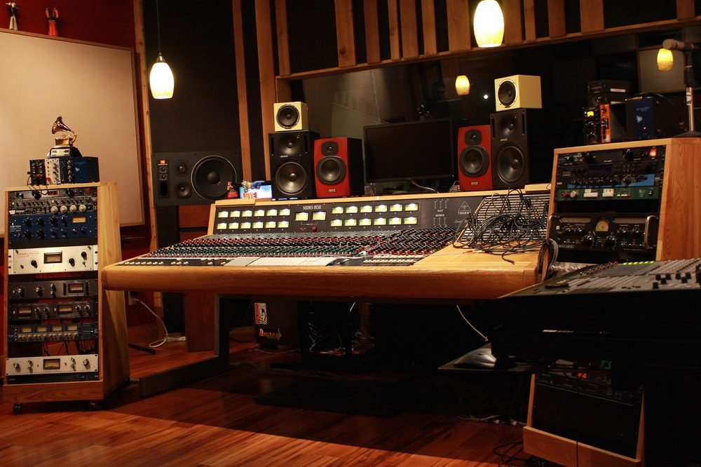 Mixing console at NuttHouse Recording Studio in Sheffield, Alabama. Photo courtesy of NuttHouse