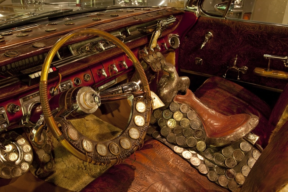 Interior of the Solid Gold Country Music car at the Alabama Music Hall of Fame