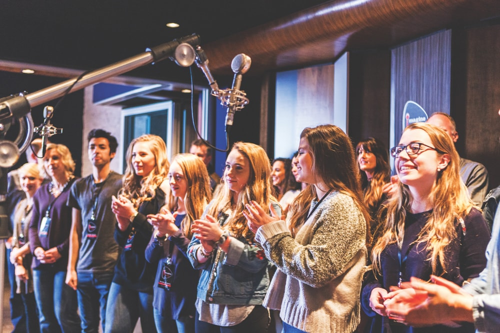 Imagine Recordings offers special packages for visiting high school choral groups to record their newest songs in a top Nashville studio.