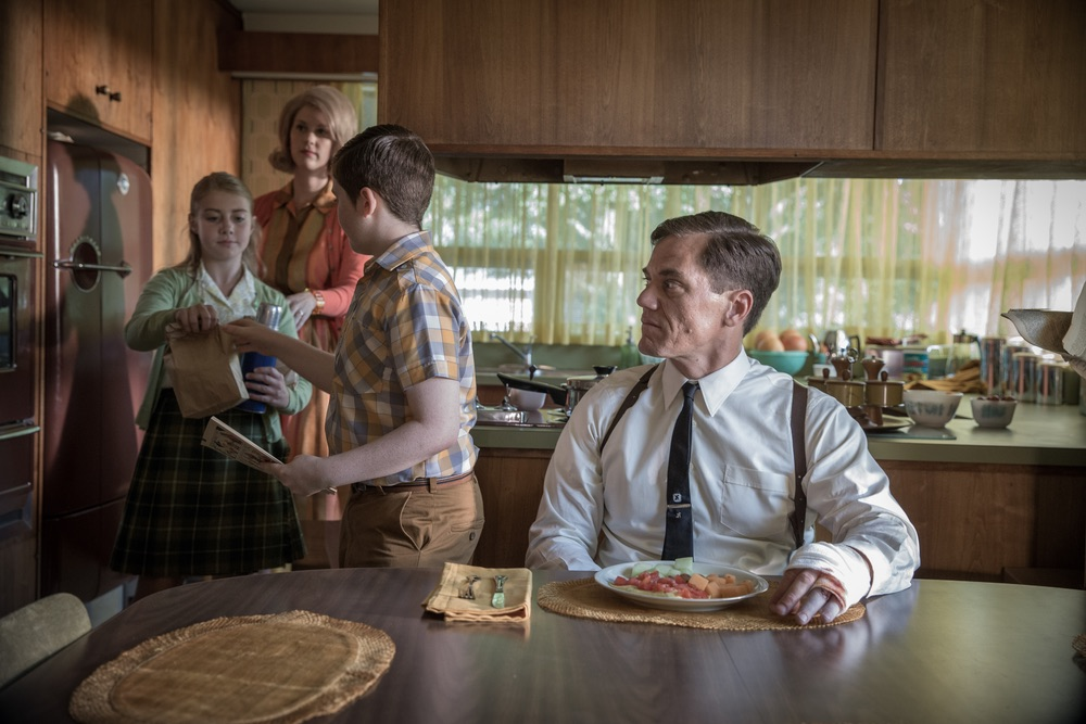 (From L-R) Madison Ferguson, Lauren Lee Smith, Jayden Greig, and Michael Shannon in the film THE SHAPE OF WATER. Photo by Kerry Hayes. © 2017 Twentieth Century Fox Film Corporation
