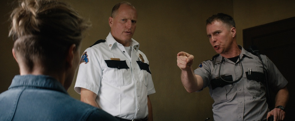 Woody Harrelson and Sam Rockwell in the film THREE BILLBOARDS OUTSIDE EBBING, MISSOURI. Photo courtesy of Fox Searchlight Pictures. © 2017 Twentieth Century Fox Film Corporation