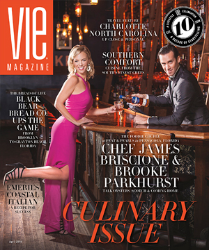 VIE Magazine - The Culinary Issue - April 2018 Cover - Chef James Briscione and Brooke Parkhurst