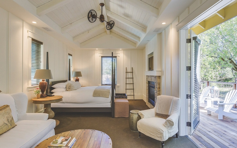 Sonoma County, California; One of the bedroom options at Farmhouse Inn
