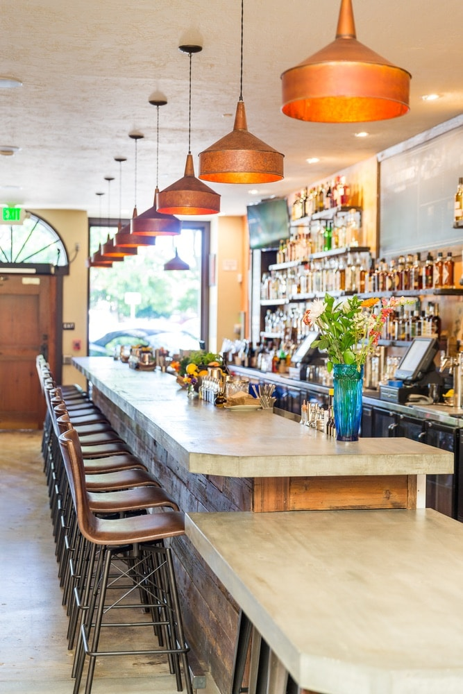 Sonoma County, California; View of the bar at Duke's