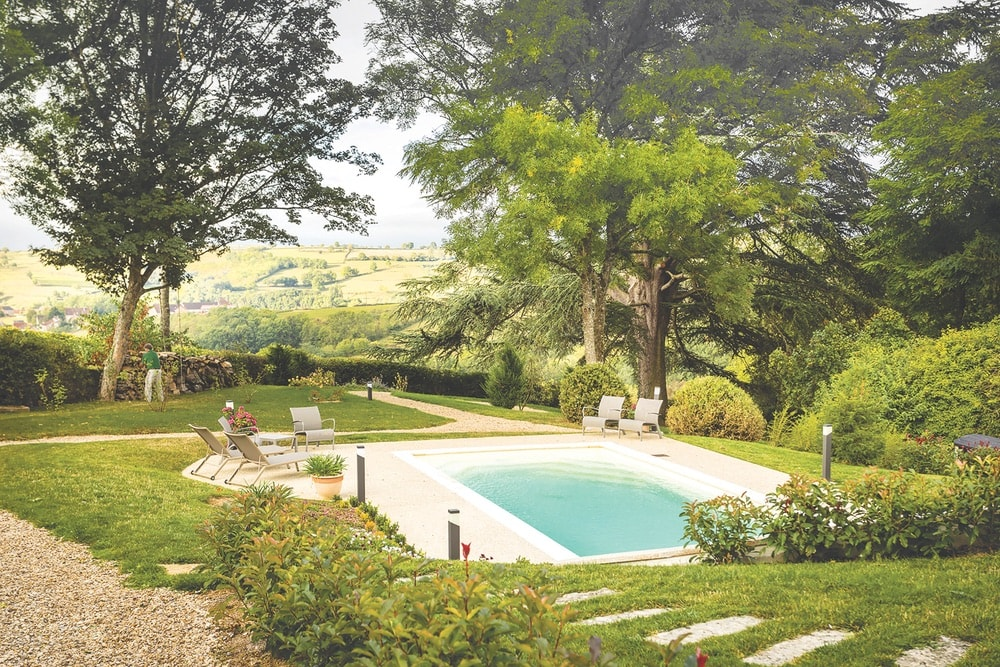 The grounds of Domaine de Cromey might inspire guests to do as the owners did—stay in Burgundy for good.