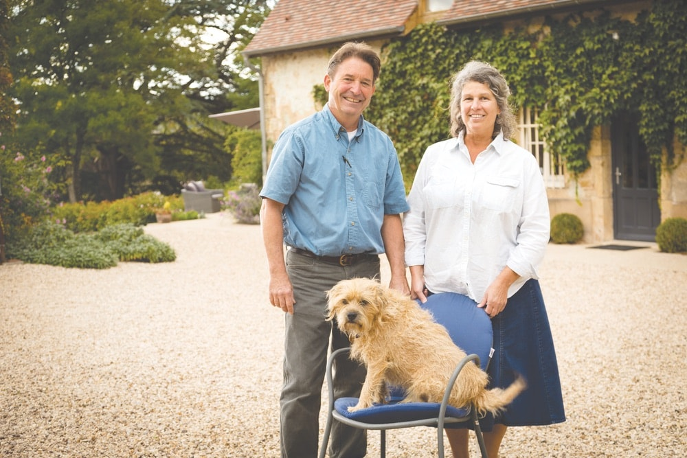 "The property's owners, Dennis Sherman and Eleanor ""Ellie"" Garvin, moved to Europe from the US in 1983, and now they (along with Haggis, the wonder dog) welcome guests to Domaine de Cromey for extended stays and wine tours of the region."