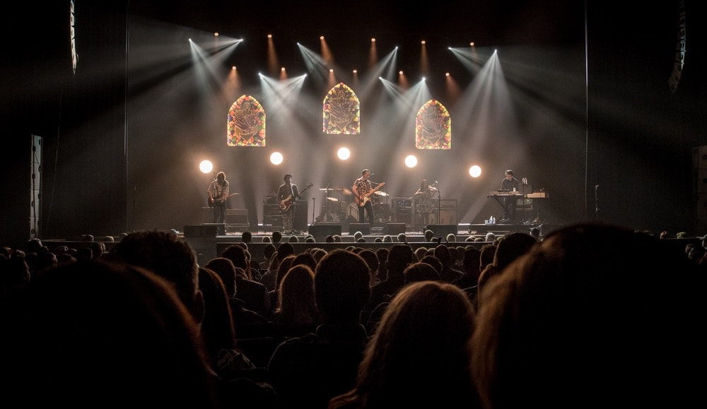 Jason Isbell performing at the Ovens Auditorium in Charlotte, North Carolina