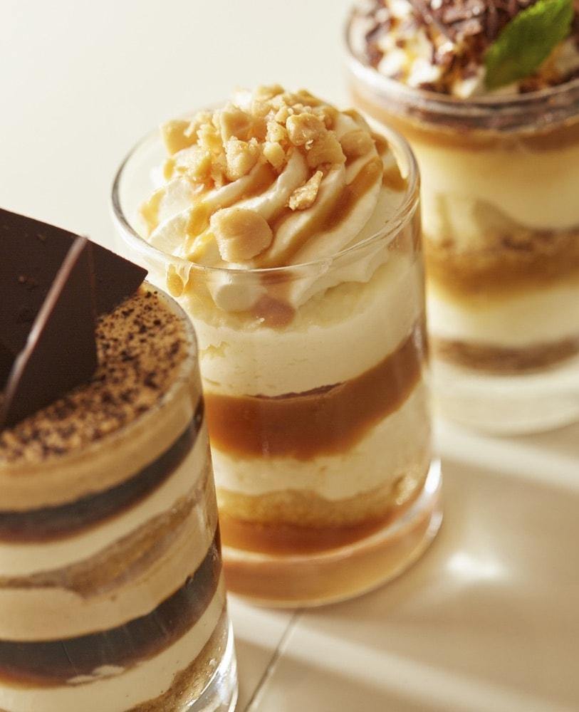 Three delicious deserts at Emeril's Coastal Italian at Grand Boulevard in Miramar Beach, Florida