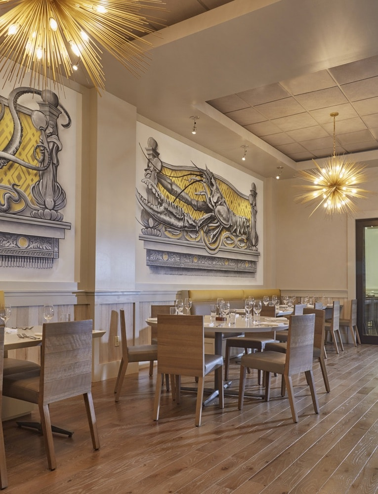 Interior dining area at Emeril's Coastal Italian at Grand Boulevard in Miramar Beach, Florida
