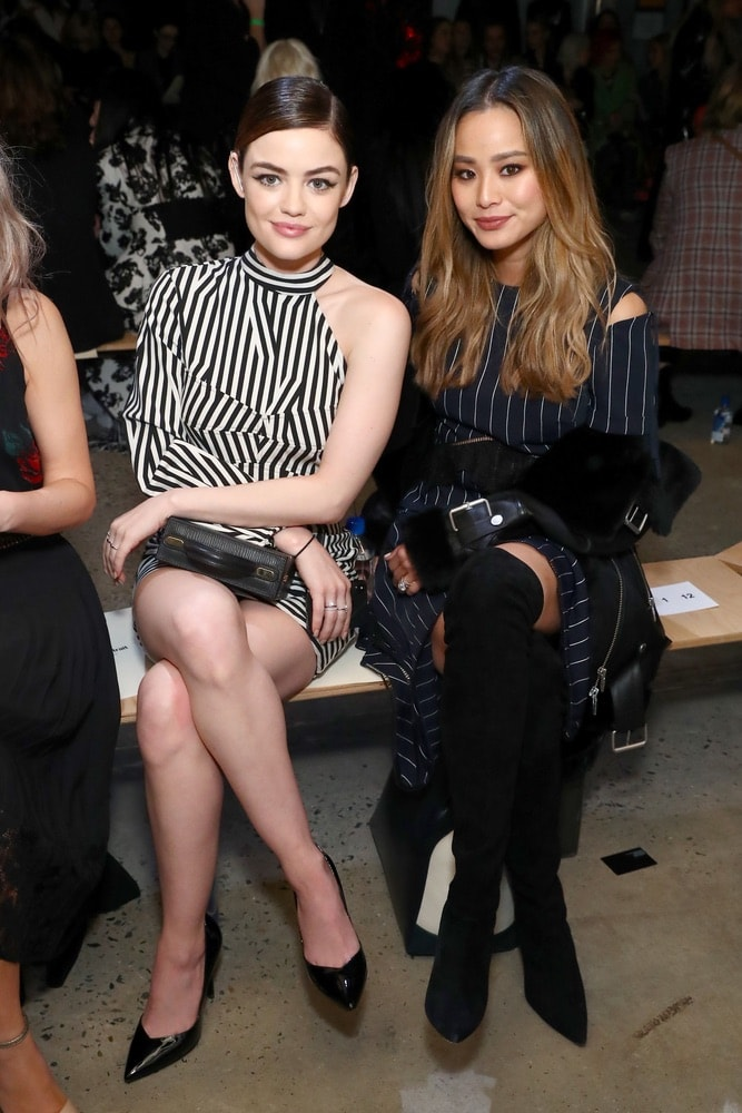 Lucy Hale and Jamie Chung at Self-Portrait during NYFW F/W 2018