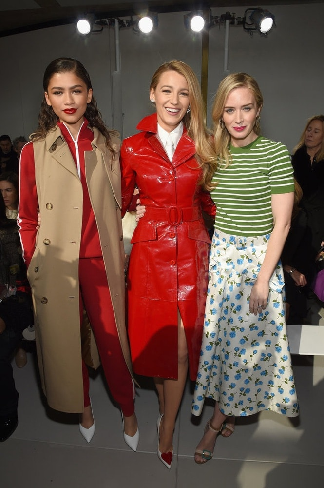Zendaya, Blake Lively and Emily Blunt at Michael Kors's NYFW F/W 2018 show