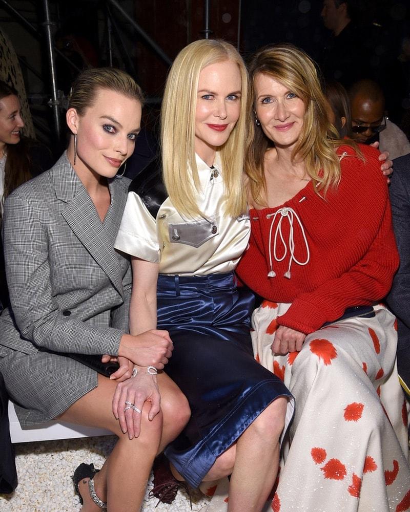 Margot Robbie, Nicole Kidman, and Laura Dern at Calvin Klein Collection during NYFW F/W 2018
