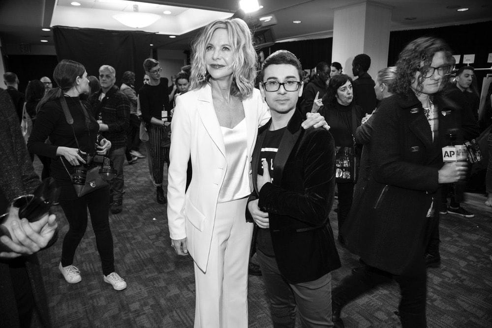 Meg Ryan and Christian Siriano at Christian Siriano's NYFW F/W 2018 show