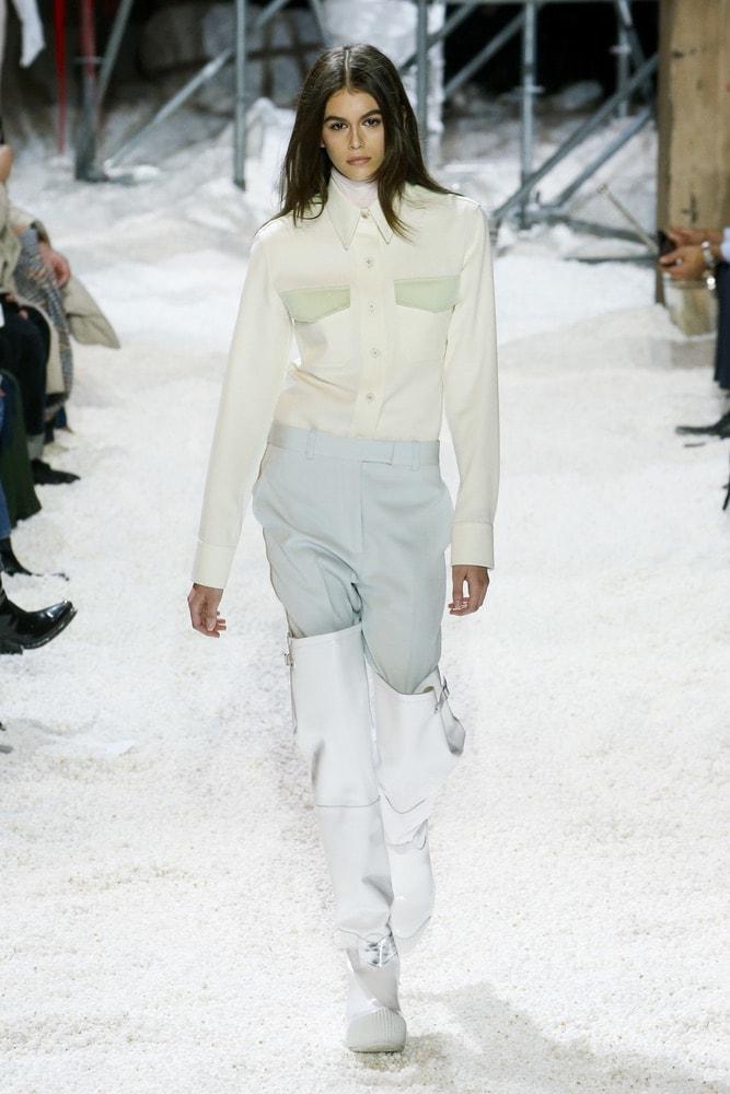 Kaia Gerber walking for Calvin Klein's NYFW F/W 2018 show