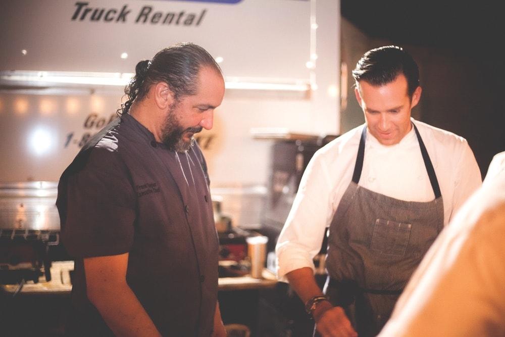 Chefs Frank Taylor and James Briscione