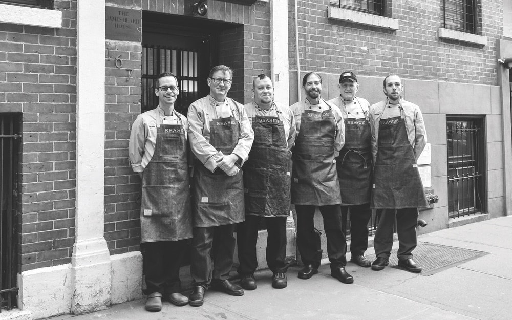 The chefs of the Jim Shirley Beard event.