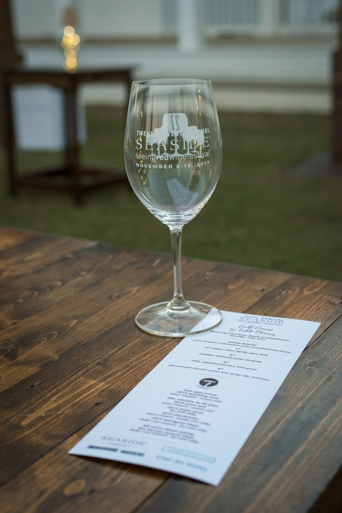 A wine glass at the Seeing Red Wine Festival