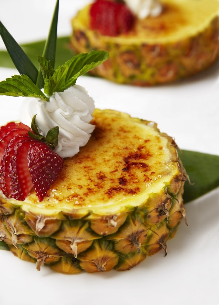 A pineapple soufflé from Tommy Bahama.