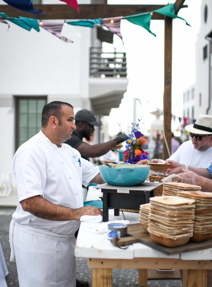 The Grand Tasting on South Charles Street during 30A Wine Festival in Alys Beach