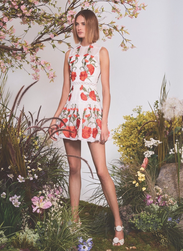 Sabella Floral-Embroidered Dress by Alexis