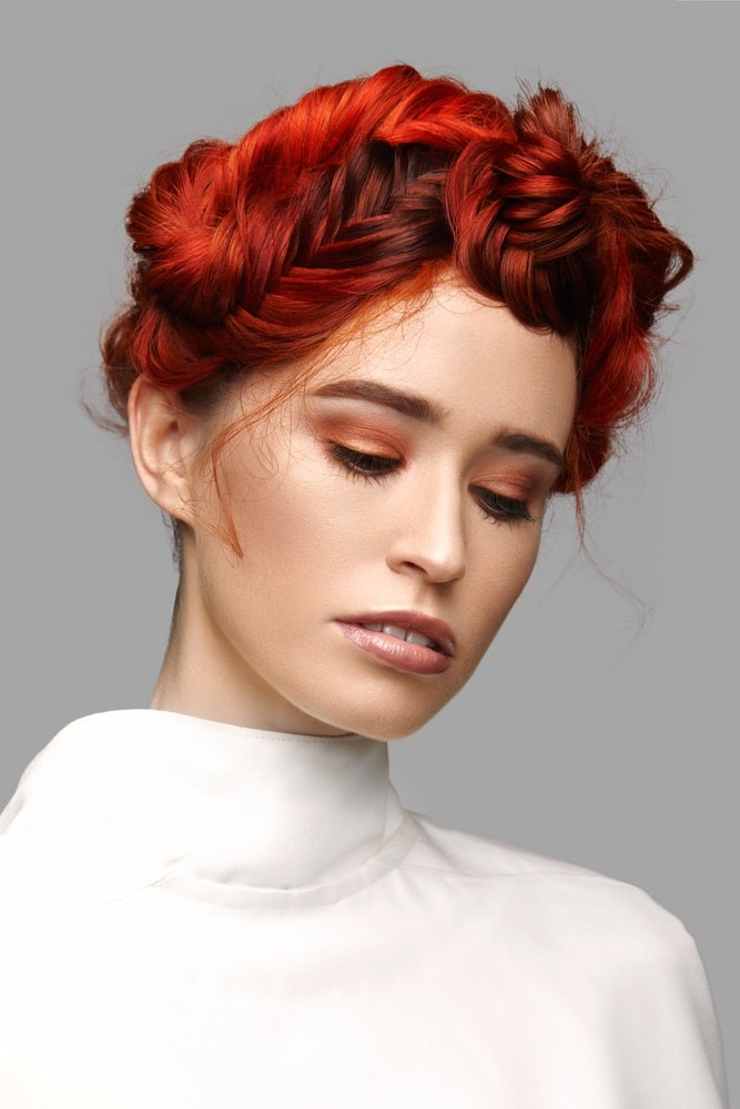 The Ignium wig styles created by stylists from Bellissimo Galway on a model