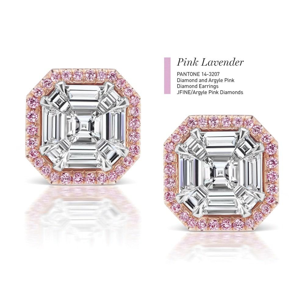 Diamond and Argyle Pink Diamond Earrings