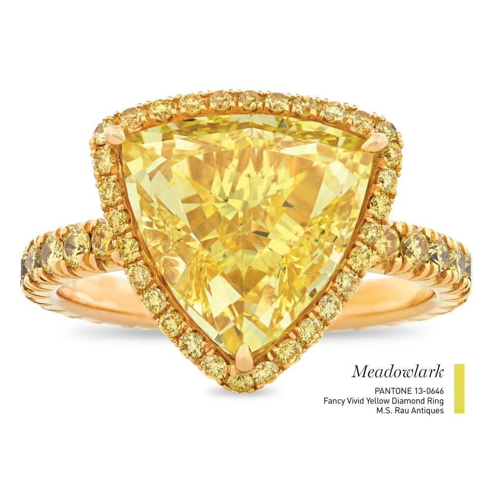 Fancy Vivid Yellow Diamond Ring