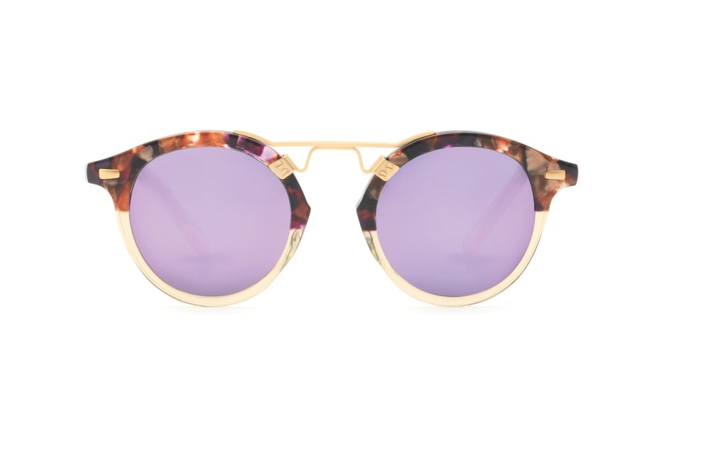 KREWE St. Louis Stardust to Champagne 24K Sunglasses