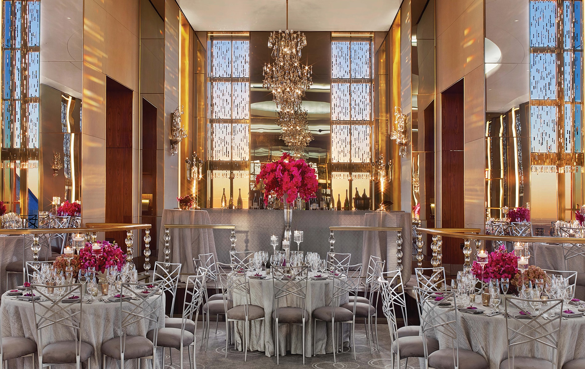 The Rainbow Room on the sixty-fifth floor at Rockefeller Center has been one of New York City's iconic event venues since 1934 and underwent a massive renovation before reopening in 2014.