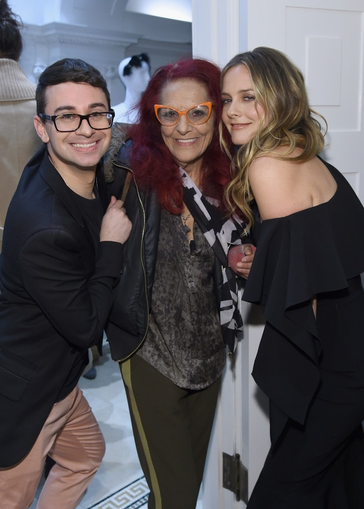 Christian Siriano, Patricia Fields, and Alicia Silverstone attend the opening of Christian Siriano's new store, The Curated NYC, hosted by Alicia Silverstone and sponsored by VIE Magazine on April 17, 2018, in New York City. Photo by Jamie McCarthy/Getty Images for Christian Siriano