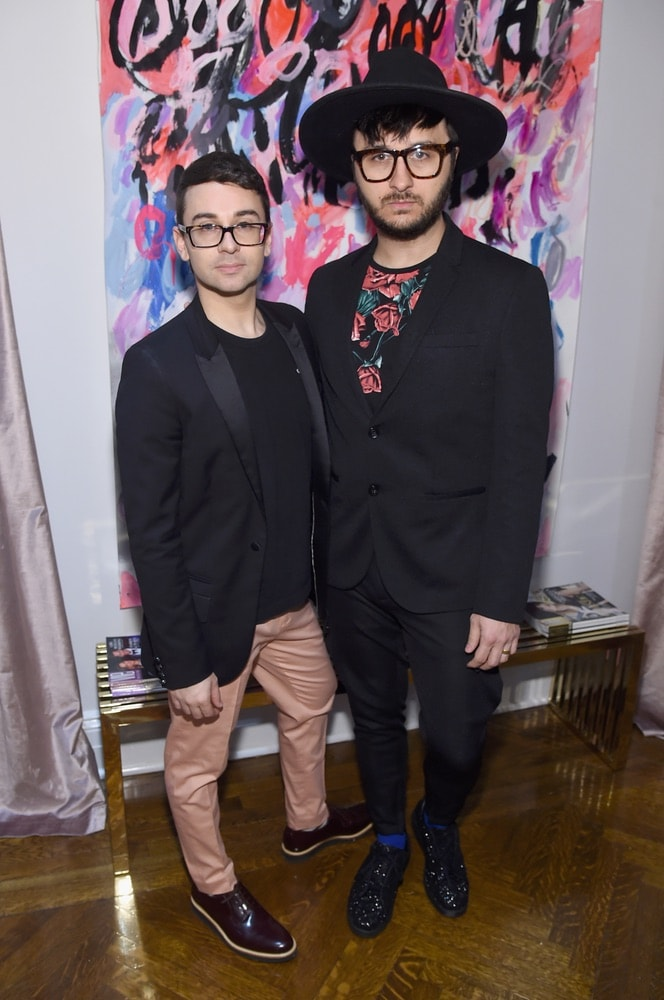 Christian Siriano and Brad Walsh attend the opening of Christian Siriano's new store, The Curated NYC, hosted by Alicia Silverstone and sponsored by VIE Magazine on April 17, 2018, in New York City. Photo by Jamie McCarthy/Getty Images for Christian Siriano