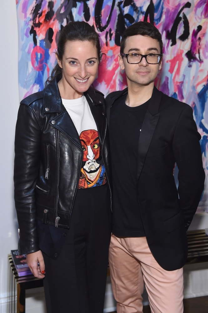Micaela Erlanger and Christian Siriano attend the opening of Christian Siriano's new store, The Curated NYC, hosted by Alicia Silverstone and sponsored by VIE Magazine on April 17, 2018, in New York City. Photo by Jamie McCarthy/Getty Images for Christian Siriano