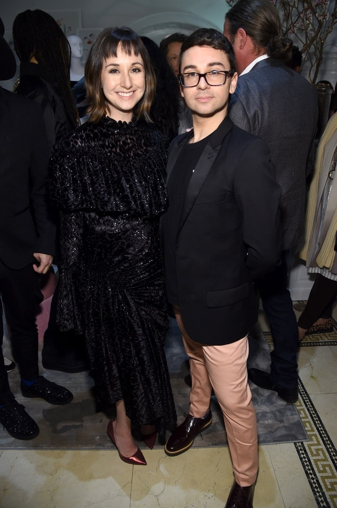 Shannon Siriano and Christian Siriano attend the opening of Christian's new store, The Curated NYC, hosted by Alicia Silverstone and sponsored by VIE Magazine on April 17, 2018, in New York City. Photo by Jamie McCarthy/Getty Images for Christian Siriano