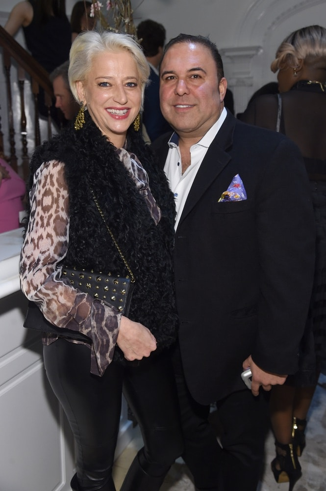 Dorinda Medley and John Mahdessian attend the opening of Christian Siriano's new store, The Curated NYC, hosted by Alicia Silverstone and sponsored by VIE Magazine on April 17, 2018, in New York City. Photo by Jamie McCarthy/Getty Images for Christian Siriano