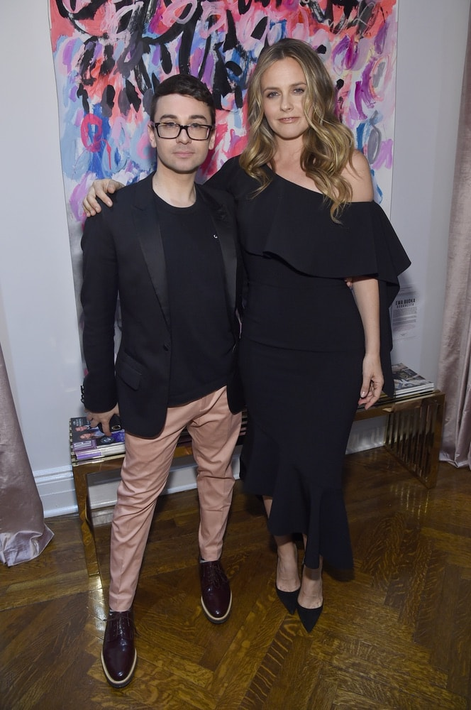 Fashion designer Christian Siriano and Alicia Silverstone attend the opening of Christian Siriano's new store, The Curated NYC, hosted by Alicia Silverstone and sponsored by VIE Magazine on April 17, 2018, in New York City. Photo by Jamie McCarthy/Getty Images for Christian Siriano