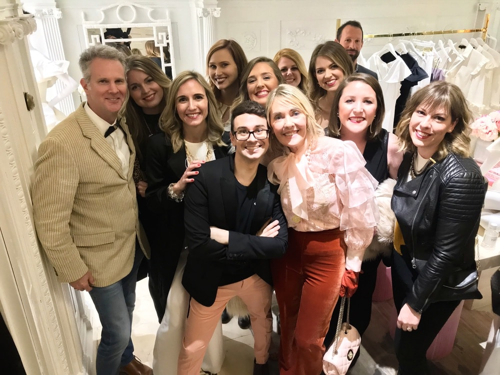 Fashion designer Christian Siriano and the VIE team attend the opening of Christian Siriano's new store, The Curated NYC, hosted by Alicia Silverstone and sponsored by VIE Magazine on April 17, 2018, in New York City.