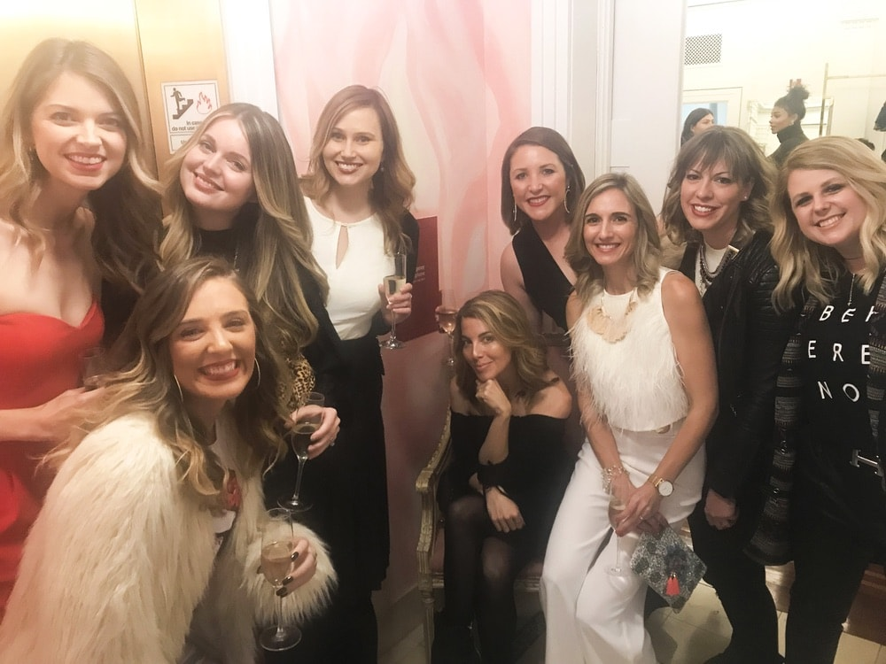 Morgan James and members of the VIE team attend the opening of Christian Siriano's new store, The Curated NYC, hosted by Alicia Silverstone and sponsored by VIE Magazine on April 17, 2018, in New York City.