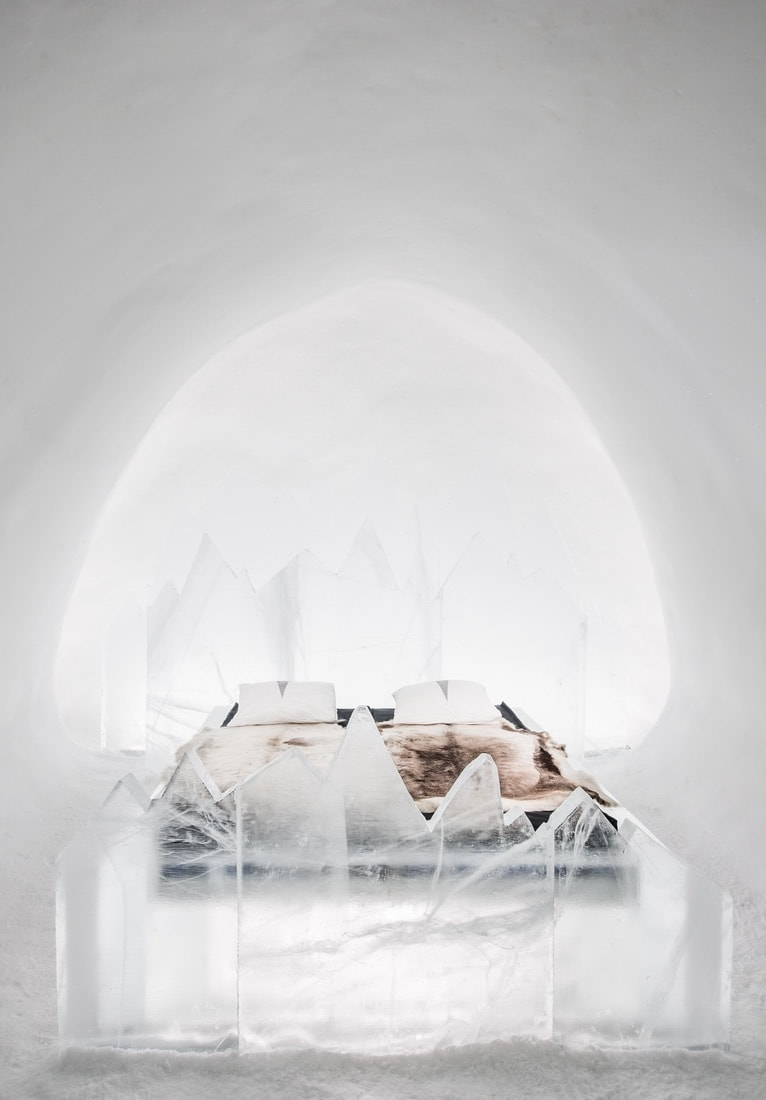 A room at the the ICEHOTEL, VIE Magazine June 2018
